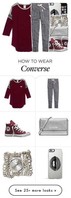 """""""•"""" by abigail-petion on Polyvore featuring Lipsy, Sara Designs, MICHAEL Michael Kors, Converse and Madewell"""