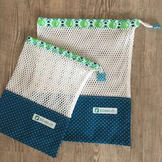 Crochet ideas that you'll love Bag Patterns To Sew, Sewing Patterns, Easy Sewing Projects, Sewing Crafts, Fabric Basket Tutorial, Produce Bags, Creation Couture, Mesh Material, Patchwork Bags