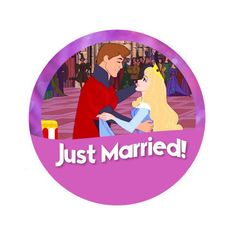Sleeping Beauty Just Married Disney 2-1/4 by HashtagPinning