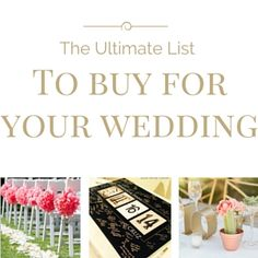 All the little details you need to buy for the big day