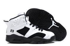 74f8db14b85f  85.98 Cheap high quality Kid s Nike Air Jordan 6 Shoes White Black on hot  sale