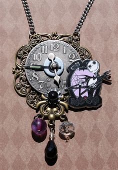 Steampunk necklace- Jack Skellington