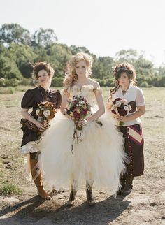 Rebecca Blake, Miss Tak, Hilary Rhodes. Victorian Steampunk Wedding.