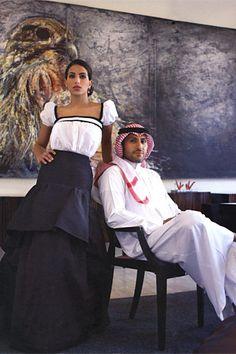 Saudi Princess Deena Abdulaziz with her husband Prince Sultan