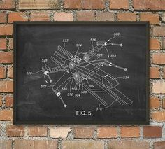 X-Wing Star Wars Patent Wall Art Poster 2 by QuantumPrints on Etsy