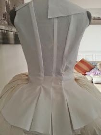 Back detail of 18th century gown in progress