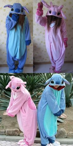 Lilo & Stitch One-piece Flannel Pajamas from modsele Disney Lilo & Stitch PaiamasDisney Lilo & Stitch Paiamas Bff Halloween Costumes, Onesie Costumes, Halloween Kostüm, Cool Costumes, Onesie Pajamas, Cute Pajamas, Pyjamas, Flannel Pajamas, Pajamas Winter