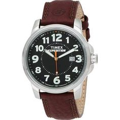 Timex Men's Watch T49870 Expedition Brown Leather Strap