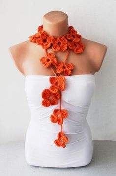 Flower scarf! Very unique accessory!!
