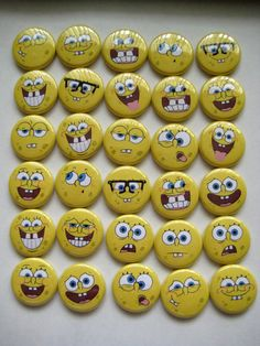 30 Sponge Bob Square Pants PinBack Button Party by PaperCandys, $15.00