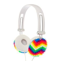 Rainbow Chevron Rubber Spike Fashion Headphones