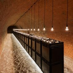 Strobl Winery by Wolfgang Wimmer + March Gut European design sensibility.old brick arch with new simple materials which have stark contrast Stack wine crates for a bar! Café Design, Home Design, Interior Design, Design Interiors, Design Trends, Cave A Vin Design, Bar A Vin, Home Wine Cellars, Wine Cellar Design