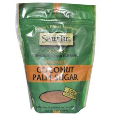 Sweet Tree, Organic Coconut Palm Sugar, Blonde.  I've been using this in coffee lately, it's delicious! low glycemic.