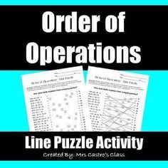 Solving Radical Equations: Line Puzzle Activity Simplifying Expressions, Algebraic Expressions, Math Teacher, Math Classroom, Classroom Activities, Maths, Classroom Ideas, 5th Grade Worksheets, One Step Equations
