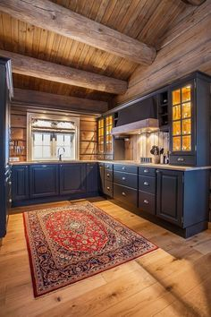 This kind of photo is genuinely a formidable style philosophy. - This kind of photo is genuinely a formidable style philosophy. Log Cabin Kitchens, Cottage Kitchens, Log Cabin Homes, Log Home Interiors, Log Home Decorating, Wood Home Decor, Küchen Design, Rustic Kitchen, Knotty Pine Kitchen
