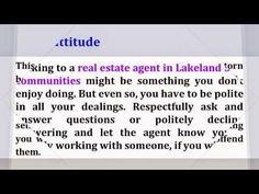 http://www.LakelandFloridaLiving.com - Make the best out of your open house visit in Sandpiper Golf Lakeland FL. Here are tips to prepare you for a home viewing. If you're looking for a Lakeland Florida real estate agent with superior local knowledge, experience, professionalism, integrity, and personal service to help you sell or buy Lakeland 55+ Community homes for sale or Sandpiper Golf homes for sale, call me, Petra Norris, at (863) 619-6918