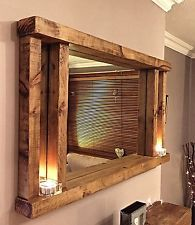 Image result for large rustic wooden mirror