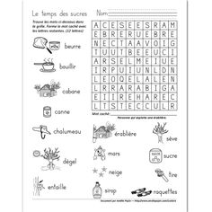 French Word Search with the Topic of Pâques . French Teaching Resources, Teaching French, Easter Activities, Holiday Activities, Amelie Pepin, French Worksheets, Hidden Words, Illustrated Words, Core French