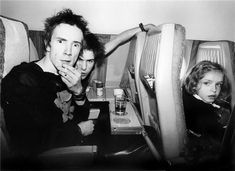 Johnny Rotten and Sid Vicious from Sex Pistols