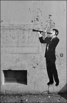 Clarinet Street Art but WHAT I DONT EVEN JUST WHAT??????!!!!! WHY IS HE HOLDING IT LIKE THAT ITS JUST AWFUL!!!!