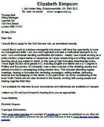 Civil Servant Cover Letter Example