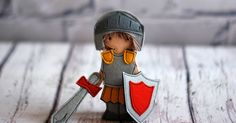 "Armor of God set for Felt ""paper"" doll, Bible story, Knight dressing doll, Gift for a boy"