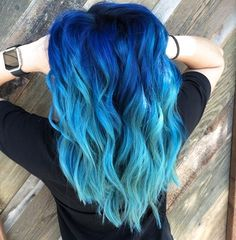 35 Shades Of Blue Hair Give You All The Color Inspiration awesome blue hairstyle ombre hair 35 Shades Of Blue Hair Give You All The Color Inspiration - HomeLoveIn Cute Hair Colors, Pretty Hair Color, Beautiful Hair Color, Hair Dye Colors, Ombre Hair Color, Awesome Hair Color, Blonde Ombre Hair, Brown Ombre Hair, Teal Hair