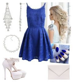"""Blue Beauty"" by paoladouka on Polyvore featuring Carolee, Chicwish, Verali and John Lewis"