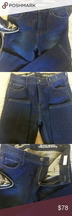 Madewell skinny skinny ankle jeans New without tags never worn dark blue,high wasted , Skinny Skinny Ankle, 29 inseam 10 rise Madewell Jeans Skinny