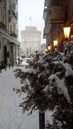 Thessaloniki is even more beautiful in winter, Greece Thessaloniki, Macedonia, Nymph, Beautiful Places, Places To Visit, Snow, Explore, Landscape, Country