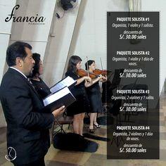 #CoroFrancia de Francia Producciones Música para un gusto exigente. Tenemos para nuestros novios fabulosos descuentos para el día de su boda. Contáctenos en: http://portalnovia.pe/blog/promociones/coro_francia/imperdible_promoci%C3%B3n_coro_francia.html