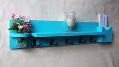 Shelf with Mail Holder  Coat Hooks  Jar Vase  by LegacyStudio, $39.99