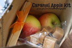 Caramel Apple Kit.  Fun and simple gift to give during the fall season.