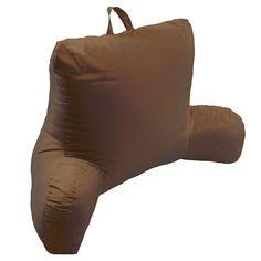 Elements Microfiber Bed Rest Pillow, Brown