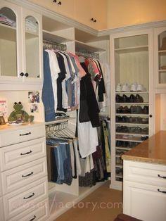 Custom Closet Photo Gallery - Closet Organizers by Closet Factory Closet Storage, Closet Organization, Shoe Organizer, Organizers, Master Closet, Walk In Closet, Shoe Closet, Custom Closets, Organize Your Life