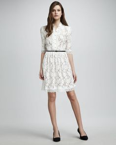 Wear. Kitty Lace Dress - Alice by Temperley #lace #seethrough #goldbuttons