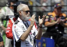 David Letterman (pictured at the Indianapolis Motor Speedway Sunday) sponsored a car during this year's race and said he would fake his own death if his driver didn't win