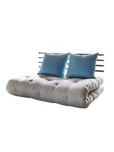 Slaapbank Shin Sano - futon beige/blauw - matras 6 lagen katoen en 4cm schuimstof, Karup