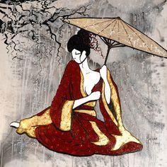 Geisha acrylic