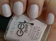 Avon Gel Finish nail enamel in Sheer Love via @beautybymissl