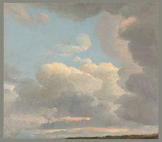 Simon Denis  Etude de nuages, vers 1800  Huile sur papier - 22,5 x 25,7 cm  New York, Metropolitan Museum of Art