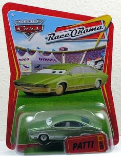 Disney / Pixar CARS Movie 1:55 Die Cast Car Series 4 Race-O-Rama Patti Mattel by Mattel. $7.89. Disney Pixar Cars Race-O-Rama Collection 1:55 scale die cast car from Mattel. For Ages 3 & Up. Patti - Mario Andretti's Assistant (Race O Rama #95) Disney Pixar Cars diecast toy. Disney / Pixar CARS Movie 1:55 Die Cast Car Series 4 Race-O-Rama Patti  by Mattel