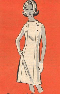 1960s Dress Anne Adams 4848 Vintage Sewing by JFerrariDesigns, $10.00