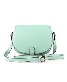 Mini Mint PU Shoulder Bag with Flap Front. Ordered and received it  yesterday! 1f696cebf2