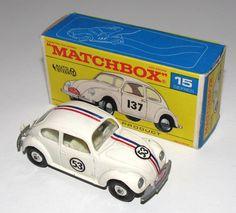 Matchbox | 1-75 Series, Regular Wheels | Volkswagen 1500 Saloon Herbie the Love Bug | Model Racing Cars | hobbyDB