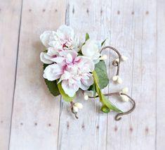 Boho floral head piece clover hair wreath fairy by gardensofwhimsy