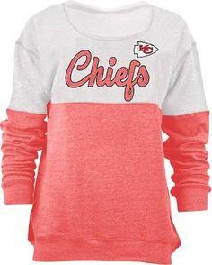 Kansas City Chiefs Womens Red Triblend Crew Sweatshirt