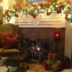 Mantle & Fireplace Decor      Merry Christmas !!