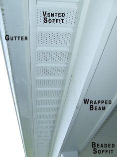 Vinyl Beadboard Soffit Material