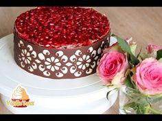 (1) Chocolate lace Masterclass , Schokoladen Tortenrand mit Stencil - Schablone Anleitung - YouTube